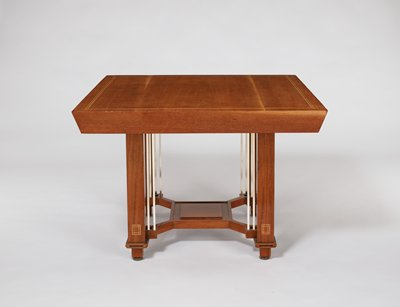 Dining table, from a six-piece dining room suite
